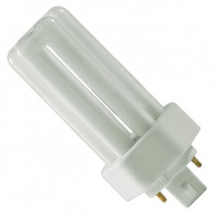 18W Sylvania 2-pin Triple Tube CFL Flourescent ECO 2700K Warm White Gx24d-2 Base  CF18DD/827/ECO
