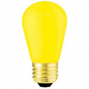 11 Watt Ceramic Yellow S14 130 Volt Medium Base Sign Bulb 6 PACK
