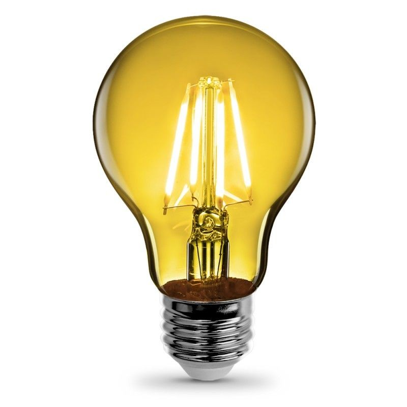 Feit Electric Vintage LED Filament Light Bulb A19 Transparent Yellow Decorative Lights Up Yellow A19/TY/LED