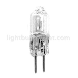 50W JC Bipin Halogen Clear 12V G6.35 Base