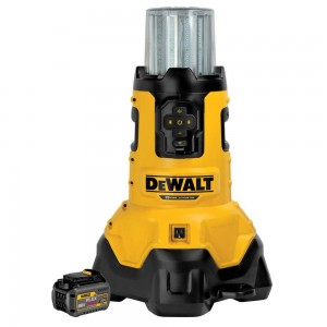 DeWalt DCL070T1 20-Volt MAX Lithium-Ion Corded/Cordless LED Jobsite Light with Tool Connect w/ FLEXVOLT 20V/60V Battery 6Ah and Charger