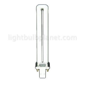 9W PL Compact Fluorescent 2 pin  1 Tube 4100 Cool White G23 Base