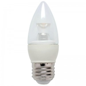 NaturaLED 5781 LED5CAB/32L/E26/27K 5W Candleabra LED, E26 Base, 325 lumens, 40W equivalent, 2700K, Dimmable, 80CRI,25000 Hours