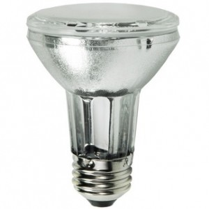 20W Sylvania Metalarc Powerball Pulse Start PAR20 Metal Halide Spot 3000K Warm White MCP20PAR20/U/830/SP10/ECO