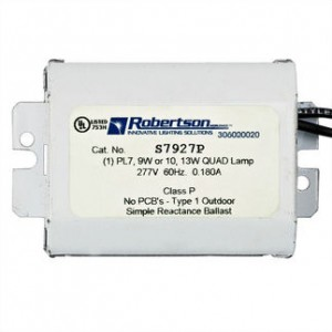 Robertson S7927P 7W or 9W CFL 2-pin 277V Preheat Start