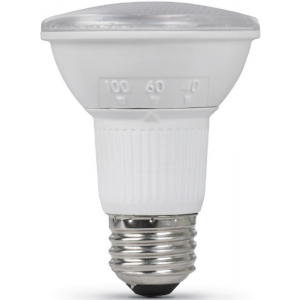 Feit 6W PAR20, Dimmable, 3000K, 450LM, 30°,60°,100°, E26 (Medium) 120V; PAR20/ADJ/930CA