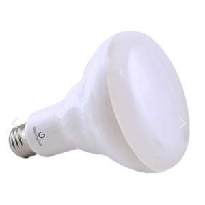 Green Creative 9w BR30 LED Dimmable, 3000K, 650LM, 120°, E26 Base; 9BR30DIM/827