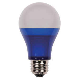 Westinghouse 6W Omni A19 Non-Dimmable LED, Blue, 40W Equivalent, 220°, 25,000 Hours, E26, 120V; 6OMNIA19/LED/B