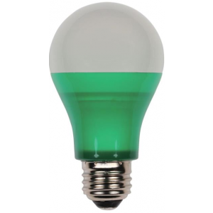 Westinghouse 6W Omni A19 Non-Dimmable LED, Green, 40W Equivalent, 220°, 25,000 Hours, E26, 120V; 6OMNIA19/LED/G