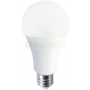 Envision 16W A21 Dimmable LED, 3000K, 1600LM, >90, 25,000 hours, 360°,E26, 120V; LED-A21-16W-30K-HD