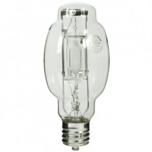 Sylvania 64439 175W Metal Arc Metal Halide BT28 Mougal Base 4200K Cool White MS175/HOR