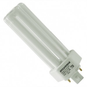 32W Sylvania 4-pin Triple Tube CFL Fluorescent ECO 4100K Cool White GX24q-3  CF32DT/E/IN/841/ECO