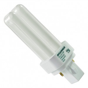 9W Sylvania 2-pin Double Tube CFL Flourescent ECO 3000K Warm White G23-2 Base CF9DD/830/ECO