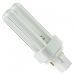 13W GE 2-pin Double Compact Fluorescent 3500K Warm White GX23-2 Base
