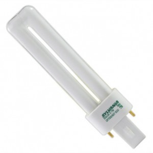 7W Sylvania 2-pin Single Compact Fluorescent ECO 4100K Cool White G23 Base CF7DS/841/ECO